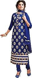 Sinina Women's Cotton Unstitched Dress Material (SKMannat646_Blue_Free Size)