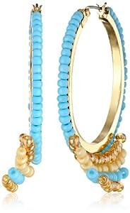 Jessica Simpson Seed Bead Hoop Earrings