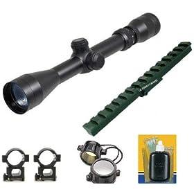 UAG Mosin Nagant 2-7x32 Long Eye Relief Scope + New Generation Weaver Rail Mount + Scope Rings+ Lens Covers+Lens Cleaning Kit