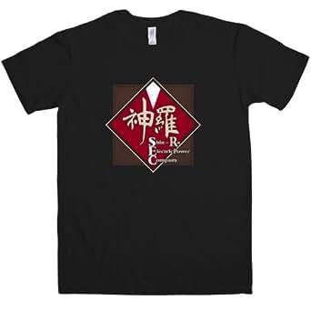 Refugeek Tees - Hommes Shin-Ra Electric T Shirt - Small - Black