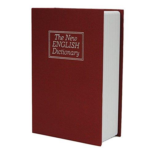 YARBAR Dizionario Inglese Piggy Bank Libro Segreto di denaro in contanti gioielli cassette di sicurezza Armadio Storage Box con il regalo chiave bambini