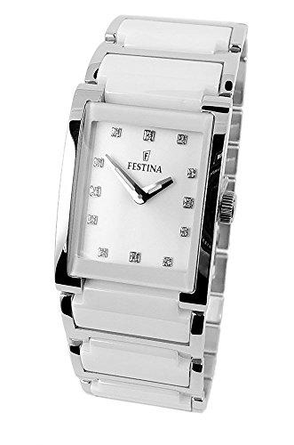 Festina Ceramic Collection Reloj de pulsera para mujer cuarzo reloj analógico de acero inoxidable/cerámica todos los modelos F16536, variante: 03