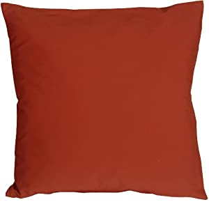 Pillow Decor - Caravan Cotton Rust 20x20 Throw Pillow
