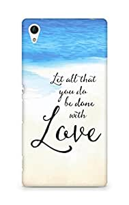 AMEZ let all that you do be done with love Back Cover For Sony Xperia Z4