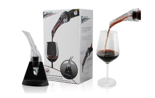 Sunway Wine Pourer Aerator Decanter — Enjoy Wine Instantly! Authentic Patented All-In-One Triple Aerator Pourer. No Waiting for Wine to Breathe. Enhances Flavor and Bouquet for a Perfect Glass of Wine. No Decanter to Clean. Wine Consumer Star Quality Award!