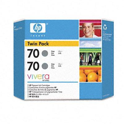 HP NO70 PACK DE 2 CARTOUCHES ENCRE GRISE 130ML
