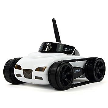 Tonnes de Fun Stoga STG777-270 WiFi Toy Tank i-Spy Toy voiture électronique avec la télécommande de caméra, incroyablement léger jouet voiture automatique pour téléphone Android/iOS
