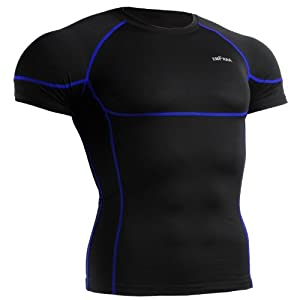 emFraa Homme Femme Sport Compression Black Tight Base layer Tee-Shirt Long sleeve S