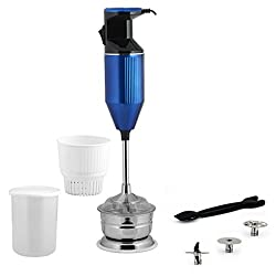 Anjalimix Metalica Hand Blender 200 Watts With Chutney and Soup Attachment (Blue)