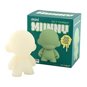 Kidrobot Mini Munny Glow In The Dark Diy Vinyl Art Figure at Sears.com