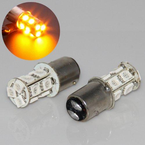 Hkbayi 2Pcs 1157 Bay15D P21/5W Dual Filament Smd 5050 Car Tail Brake Led Light Bulb Lamp Turn Signal White Blue Red Yellow