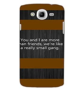 SAMSUNG GALAXY MEGA 5.8 QUOTE Back Cover by PRINTSWAG