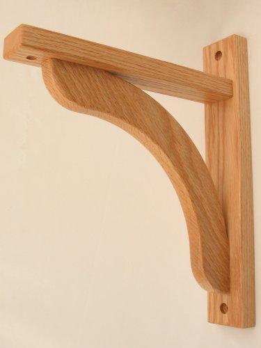 Wood Shelf Bracket - Oak Concave 10 (895227001165) $28.00