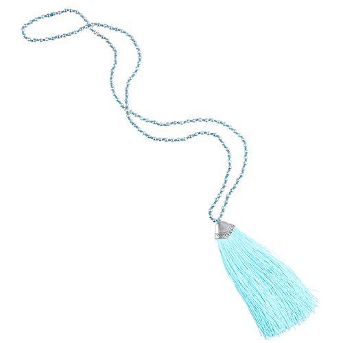 kelitch-placcato-argento-perline-catena-lungo-collana-con-nappa-ciondolo-lago-blu