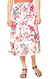 Classic Collection Pure Cotton Floral Skirt [T58-7618-S]