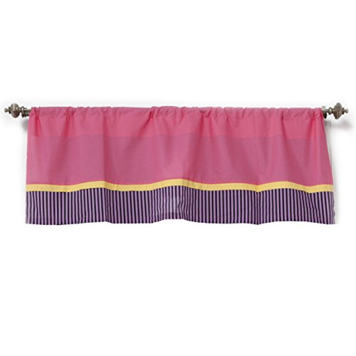 One Grace Place Sassy Shaylee Valance, Pink, Yellow, Black and Purple