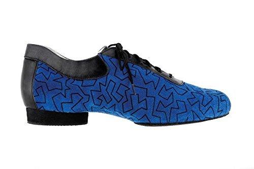 2hb-scarpa-uomo-danze-caraibiche-salsa-style-camoscio-blu-vitello-nero-taglia-425-suola-intera-cuoio