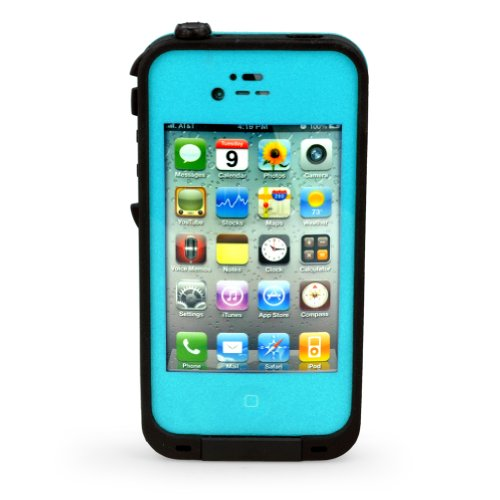 Waterproof Shockproof Dirtproof Snowproof Protection Case Cover For Apple Iphone 4 4S (Iphone 4/4S, Teal)