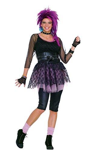 Forum Novelties Women's 80's Funky Pop Star Costume, Multicolor, Standard
