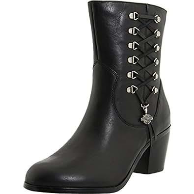 Innovative Harley Davidson Riding Boots Double Zipper Black Leather Women Sz 6.5 Emblem   Whatu0026#39;s It Worth