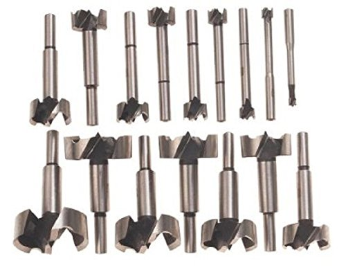 New 16pc Forstner Bit Set w/Case Wood Hole Forestner Clean Cutting (Drill Bit Set 1 16 To 1 2 compare prices)