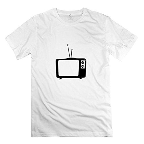 Tv Tv Telly Flat Tv Led Screen Tube Retro White T-shirt For Men S