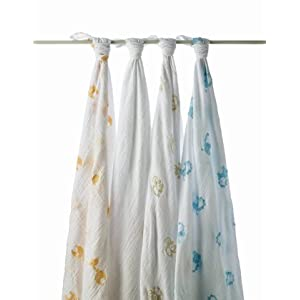 aden + anais 4-pk. Safari Friends Swaddles