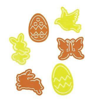 72 (6 Dozen) ~ Easter Stencils ~ Plastic ~ Approx. 3