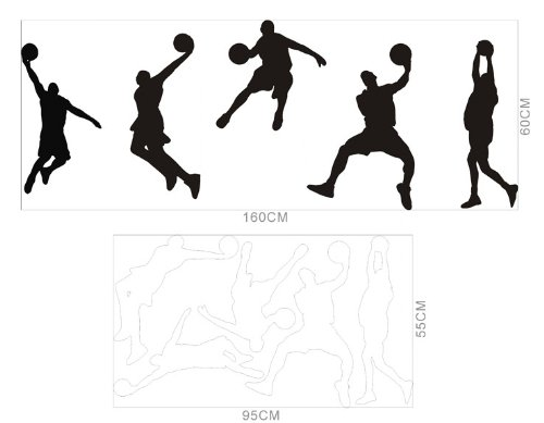 2014 New Play Basketball Player Boy Kids Wall Sticker Decal front-845863