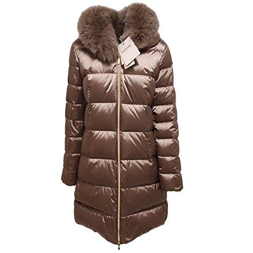 9006Q giubbotto GEOSPIRIT NEW LILLY tortora piumino donna jacket coat woman [48]
