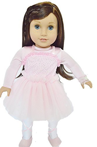 PINK BALLERINA OUTFIT FOR AMERICAN GIRL DOLLS- 18 INCH DOLL CLOTHES