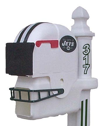 Jets mailbox new york jets mailbox jets mailboxes new for Car mailboxes for sale