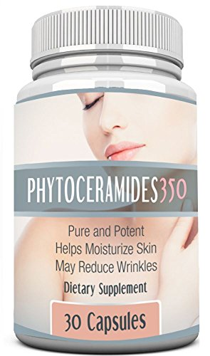 Phytoceramides 350 Mg With Vitamins A, C, D And E. Best For Anti-Aging And Optimal Skin Nutrition - Full 30 Day Supply - Vegetarian Capsules. One Of The Hottest Trends Of 2014 | As Seen On Dr. Oz | Premium Quality Plant Naturally Derived -100% All Natural