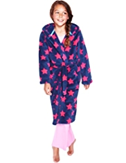 Hooded Star Print Soft & Cosy Dressing Gown