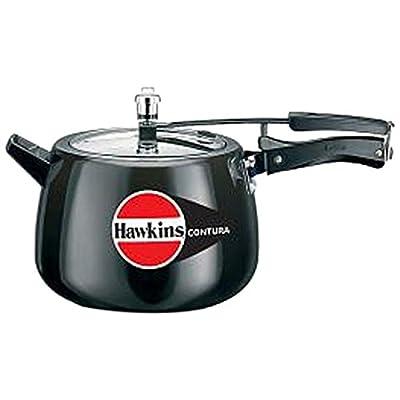 Hawkins CB65 Hard Anodised Pressure Cooker, 6.5-Liter, Contura Black