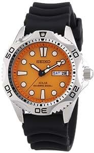 Seiko Men's SNE109 Solar Rubber Strap Watch