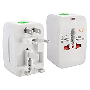 Insten® Universal World Wide Travel Charger Adapter Plug, White