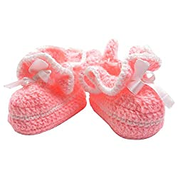 Baby wool shoes / Knitted wool shoes / Baby booties / Pink Shoes / Pre walker