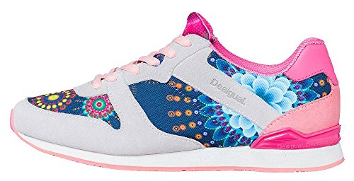 Desigual Shoes Rouge sneakers in eco-camoscio e tessuto SALMONE 37