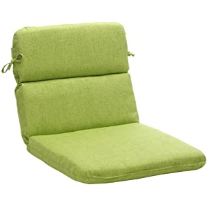 Pillow Perfect 451671 Outdoor Green Textured Solid Chair Cushion Rounded from Pillow Perfect