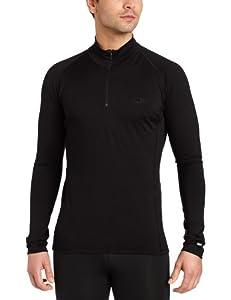 Icebreaker Men's Mondo Zip T-shirt, Black, XX-Large