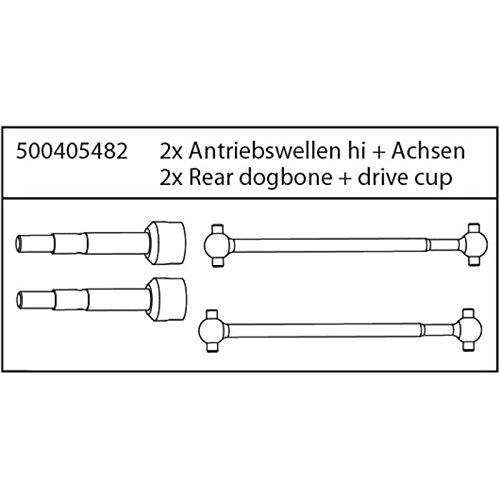 Carson-500405482-Modellbauzubehr-X10E-Antriebswellen-mit-Achsen