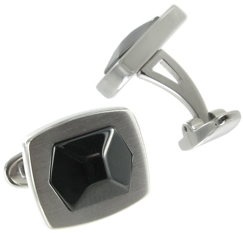 Rochet Roma Stainless Black Hexagon Cufflinks