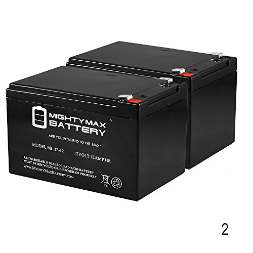 ML12-12 - 12V 12AH F2 SLA AGM DEEP-CYCLE RECHARGEABLE BATTERY - 2 Pack - Mighty Max Battery brand product (Battery 12v Deep Cycle compare prices)