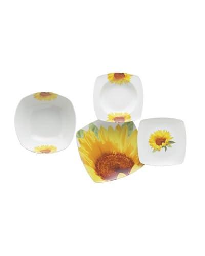 Enjoy Home  Servizio Tavola 19 pezzi Square Sunflower Giallo/Bianco
