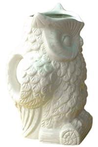 Owl Pitcher, LARGE, WHITE