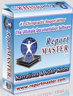 Report Master 6 Chiropractic Report Writing Software System for Windows - This version includes our Full Comprehensive Narrative Writer AND our Daily SOAPs Progress Notes Module