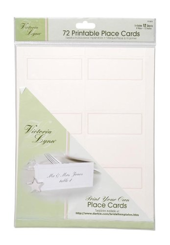 Darice VL3474, 72-Count Place Cards, 12-Sheets, Ivory (Seating Place Cards compare prices)