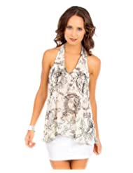 G2 Fashion Square Women's Abstract T Back Top coupons 2015