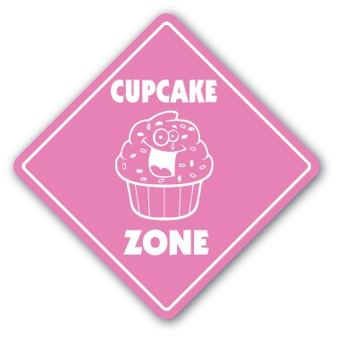 CUPCAKE ZONE Sign xing gift novelty cup cake